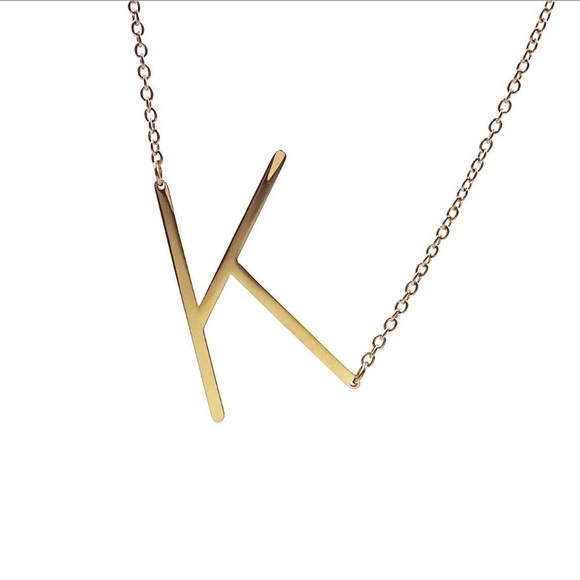 Savvy Cie Gold Plated Initial Necklace